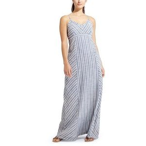 NWT Athleta Stripe Wayfinder Linen Maxi Dress